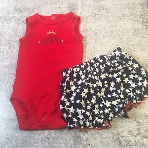 4th of July 2 piece Outfit Infant Girl 3 months